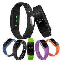Wholesale id107 smart bracelet - Fitness Tracker ID107 ID107 Plus HR Heart Rate Monitor Smart Bracelet Watch Notification Sync With Camera Bluetooth Smartband Wristband