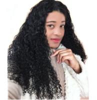 işlenmemiş hazır saç satışı toptan satış-2018 satışa en çok satan uzun ömürlü 100% işlenmemiş remy virgin İnsan saç kadınlar için doğal renk uzun kinky kıvırcık tam dantel peruk