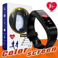 telas de monitor lcd venda por atacado-Original id115 além de tela lcd de cor pulseira inteligente rastreador de fitness pedômetro smartband freqüência cardíaca monitor de pressão arterial inteligente pulseira