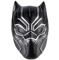 Wholesale mask movie props for sale - Black Panther Masks Movie Fantastic Four Cosplay Men s Latex Party Mask for Halloween Cosplay Props Marvel Superhero Figure