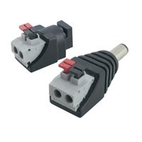 Wholesale plug terminal blocks for sale - Group buy Led Strip Adapter Male Female DC Power Jack Connector Pressed Connected Crimp Terminal Block Plug For