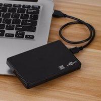 sabit disk kutuları toptan satış-Freeshipping 2.5 Inç USB HDD Vaka Sata USB 2.0 Sabit Disk Disk SATA Harici Muhafaza HDD Sabit Sürücü Kutusu USB Kablosu Ile ücretsiz kargo