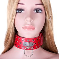 Wholesale adult toys slave collar for sale - Group buy Sex Female PU Leather Slave Collar Harness Adult Bondage Toys BdSM Fetish Wear Sex Leather Mask For Couples Cosplay Sex Products