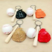 Wholesale wholesale bags old keys for sale - New Cool Sports Toys Baseball Cool Funny Ball Keychain Charm Chain Pendant Cell Phone Bags Key Rings