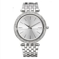 mince lunette achat en gros de-Reloj Mujer luxe montres de marque des femmes Dames robe montre de diamant marque nouvelle étiquette Bracelet de mode Full Crystal lunette mince horloge à quartz