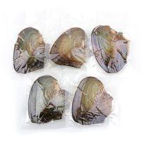 collier cadeau oyster achat en gros de-Perles D'eau Douce Perle De Riz Perles D'origine Pays Huîtres Aspirateur De Moules Emballage Individuel Bohême Turquoise Collier Femmes Cadeaux 4ls ff