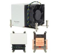 aluminium für kühlkörper großhandel-60 * 60 * 25MM Fan 4PIN Doppelkugellager P304-22 HCFC4 LGA2011 T2 Kupfer + Aluminium Fin 2U und über Server y CPU Kühlkörper 12V ~ 0,4A