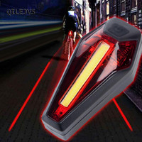 reflectores para luces led al por mayor-Bicycle Tail Light bike reflector 2 Color LED Night Cycling Rear Warning Lamp Safety Waterproof dropshipping