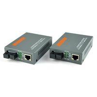 Wholesale Media Converter Single Mode - Free Shipping 1 Pair HTB-GS-03 A B Gigabit Fiber Optical Media Converter 1000Mbps Single Mode Single Fiber SC Port 20KM
