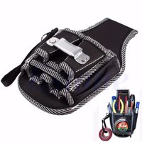 Wholesale pockets electrician bag - Wholesale-9in1 Electrician Waist Pocket Belt Tool Pouch Bag Screwdriver Utility Kit Holder