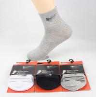 calcetines de ocio de los hombres al por mayor-Pop Mark Leisure Sports Calcetines Otoño Invierno Algodón 100% Calcetines Anti-olor Calcetines Baloncesto Masculino Marea Al Por Mayor de Alta Calidad
