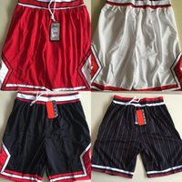 Wholesale Xxl Sweatpants - Red White Black stripe Basketball Shorts Men's Shorts New Breathable Sweatpants Teams Classic Sportswear Basketball Pant