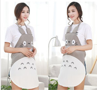 Wholesale kitchen apron sleeves resale online - Sanitary Han Edition Fashion Creative Totoro Apron Waterproof And Oil Household Kitchen Cooking Cartoon Apron Without Sleeves A032