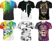 Wholesale 3d T Shirt Women - 2017 Men Fashion Spring and Summer 3D T-shirt novelty casual streetwear men and women tops Short Sleeve Creative printed