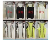Wholesale wholesale blank tanks - Women Sports tank top baseball shoulder printed shirt monogrammed summer beach softball shirt sleeveless blank women beach Vest
