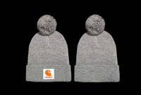 Wholesale New Fedora - New Brand beanies Knitted Hat diamond Winter Warm Thick CARHART Beanie Fedora gorro Bonnet Skull Hats for Men women Crochet Skiing Cap GC