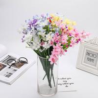 staffelungsstrauß großhandel-3 teile / los Künstliche Blumen Seide Gefälschte Blume Orchidee Hochzeit Bouquet Party Decor Wohnzimmer Outdoor Graduation Party Dekoration