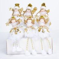 ingrosso mini figurine-Mini Angelo Scrivania Figurine di Natale in stile Holiday Home Decor Ornamenti Albero di Natale Home Decor per Natale Carino Bambini Regali Y18102609