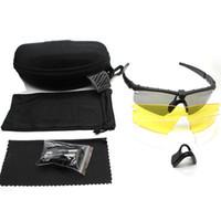 Wholesale sunglasses set resale online - 2018 Shooting Fan Explosion Proof Goggles Tactical Goggles Sunglasses Shooting Glasses Set Pairs Lens With Retail Case
