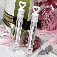 babyflaschen begünstigt großhandel-Neue 72 teile / paket Leere Blase Seifenflaschen Hochzeit Geburtstag Party Dekoration Baby Shower Favors Braut Und Bräutigam Event Supplies