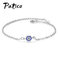 Discount bracelet small stone - PATICO New Trendy Small Round Crystals Pave AAA CZ Stone Adjustable Bracelet For Woman Micro Inlay Zircon Party Bar Bangles