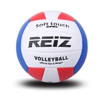 Wholesale volleyball ball online - Official Size Pu Volleyball High Quality Match Indooroutdoor Training Ball with Free Gift Net Needle