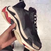 kadınlar için eski ayakkabılar toptan satış-Paris 17FW Üçlü-S Eğlence Ayakkabı Lüks Baba Ayakkabı BL Üçlü S 17FW Sneakers Erkekler Kadınlar için Vintage Kanye West Eski Büyükbaba Eğitmen Açık