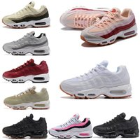 Wholesale white boot soles - 95 Essential OG Mesh Running Shoes Fashion Women TOP Quality White Red Pink Black Vapor Sole Sports Sneakers With Box