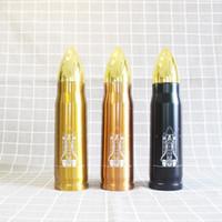 ingrosso bottiglie di proiettile-500 ml forma di pallottola thermos tazza di isolamento in acciaio inox bottiglia di acqua vuoto militare missile tazza di caffè drinkware bambini tazze AAA775