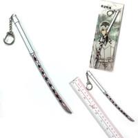 cobre chaveiros venda por atacado-Tokyo ghoul espada Unisex Chaveiro anime dos desenhos animados moda chaveiros chaveiro ornamento pingente de presente novo