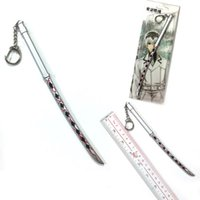 Wholesale alloy sword pendant for sale - Group buy Tokyo ghoul sword Unisex Key Chain anime cartoon fashion Keychains keyring ornament pendant gift new