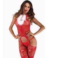 nylon dame heißes kleid großhandel-Sexy Netz-Netzhalfter der heißen Dame aushöhlen offenes rückenfreies Oberschenkellänge Fantasie-Mikro-Kleid erotische Unterwäsche