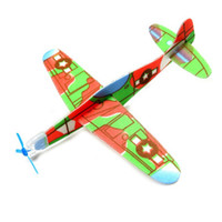 Wholesale Wholesale Model Airplanes - Children Puzzle Magic Flying Gliders Aircraft Plane Hand Throw Foam Back Airplane Kids Child DIY Educational Aviation Model Toys