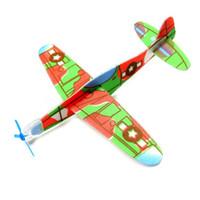 juguetes modelo de vuelo al por mayor-Niños Puzzle Magic Flying Gliders Aviones Avión Tiro a mano Espuma Volver Avión Niños Niño DIY Modelo de Aviación Educativa Juguetes