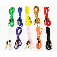 iphone auxiliary cord Australia - Stock 10 colors Nylon Braid AUX Cable 3.5mm jack Male to Male Car Aux Auxiliary Cord Jack Stereo Audio Cable for Phone iPod