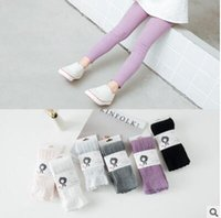 Wholesale Baby Knitted Leggings - 1-8Yrs Children Spring Autumn Lace Tights Leggings Cotton Baby Girl Lace Pantyhose Kid Infant Knitted Collant Tights Soft Infant Clothing