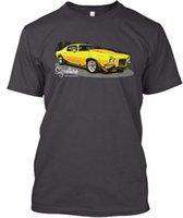 camisa amarilla del músculo al por mayor-Camiseta Premium Muscle Car Amarillo