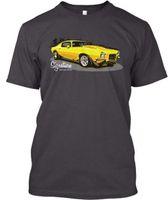 gelbes muskelhemd großhandel-Gelbes Muskel-Auto-Prämie T-Shirt