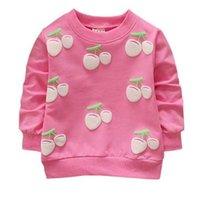 kleinkindjunge 3t sweatshirt großhandel-Sweatshirts Cherry Baby Mädchen Jungen Hoodies Kleinkind Kinder Sweatshirts Schöne Rundhals Lange Ärmel Hoodies