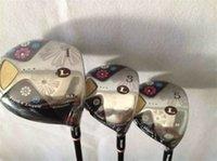 damen golf wälder großhandel-Maruman FL Holz Set Golf Woods Maruman Damen Golfschläger Driver + Fairway Woods Lady Flex Graphitschaft mit Kopfbedeckung
