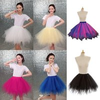Wholesale womens tulle skirt white - New Arrival Cheap 2018 Mini Sexy Tutu Skirts Black Tulle Skirts Womens Petticoat Rockabilly 5 Layers Puffy Summer Skirt CPA782