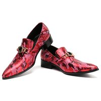 Wholesale wedding toe gems - 2018 New High-end Camouflage Printing Mens Shoes Luxury Fashion Men Loafers with Gem Chain Men's Flats