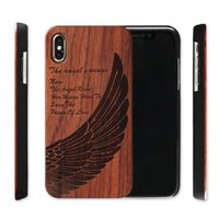 Wholesale bamboo iphone case for sale - Genuine Wood Case For Iphone XS Max XR Plus Hard Cover Carving Wooden Phone Shell For Iphone Bamboo Housing Luxury S9 Retro Protector
