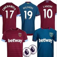 f2569170c 18 19 West Ham United soccer jersey home away shirt CHICHARITO ZABALETA  KOUYATE CARROLL LANZINI PAYET NOBLE J.MARIO 2018 2019 Football shirt