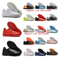 Wholesale soccer football boots soft ground resale online - 2018 mens soccer cleats TimpoX Finale IC original soccer shoes soft ground football boots cheap Tiempo Legend VII MD Indoor New