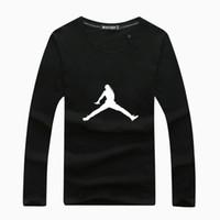 paris hoodie al por mayor-2018 hombres baloncesto corriendo camiseta manga larga camiseta suéter hombre marca Paris sudadera con capucha algodón asiático tamaño S-4XL