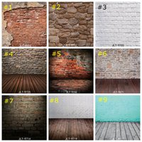Wholesale vinyl backdrops bricks online - Vintage Brick Wall Photography Background Vinyl Photo Backdrops Studio Props Wood Floor wallpaper home decor cm