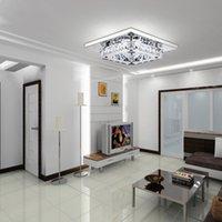 ingrosso passaggio corridoio-Plafoniere di cristallo quadrati moderni Lampadari a LED Lampada montaggio a filo Corridoio Ristorante Corridoio Soggiorno Camera da letto