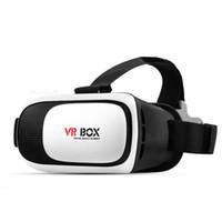 iphone de los vidrios 3d de la cartulina al por mayor-Gafas de realidad virtual 3D VR II 2.0 versión original de Google Cardboard VR II para vidrio de Smartphone de 3,5 - 6,0 pulgadas para iPhone