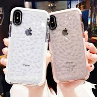 açık jöle kutusu toptan satış-Lüks Jöle Telefon Kılıfları iPhone X 10 Için Yumuşak TPU Şeffaf Kılıf Shookproof Temizle Kapak iphone 7 8 6 6 s Artı